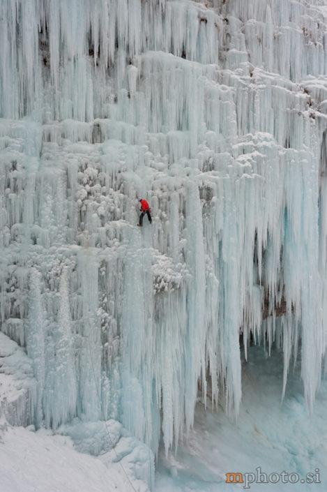 Ledno plezanje, Slap Peričnik