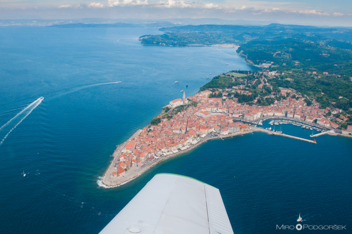 Aerial view, Piran
