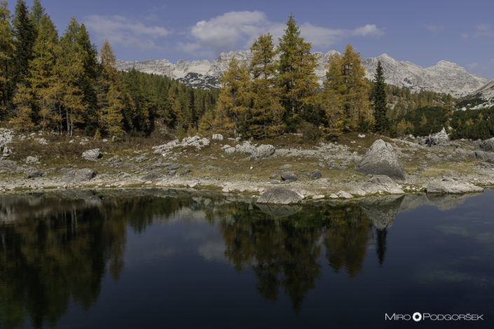 Dvojno jezero Dolina Triglavskih jezer